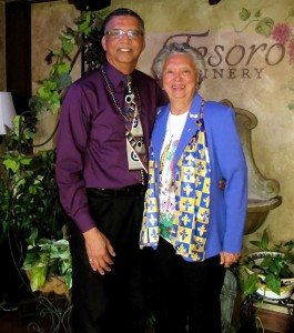 Louis H. Metoyer with Veronica Metoyer at Tesoro Winery